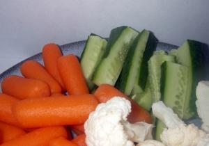 carrots, cauliflower, cucumber