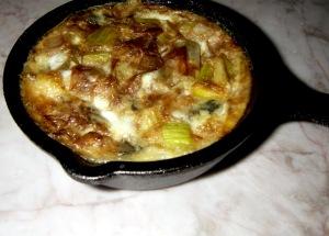 leek and blue cheese frittata