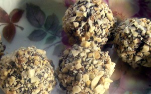 goat cheese choolate truffles
