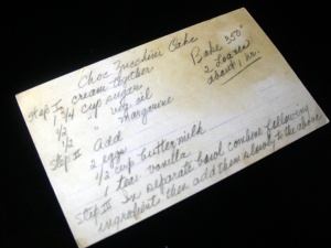 recipe card for chocolate zucchini bread