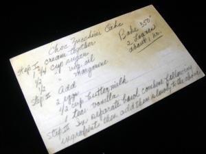 recipe card for chocolate zucchini bread