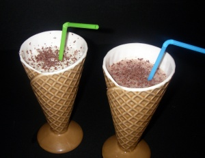 chocolate and vanilla milkshakes
