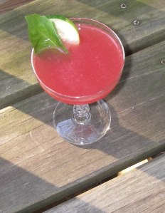 watermelon basil martini