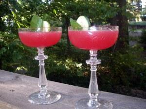 summer martini on deck