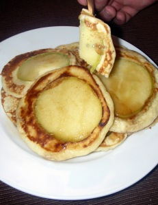 pancake with apples