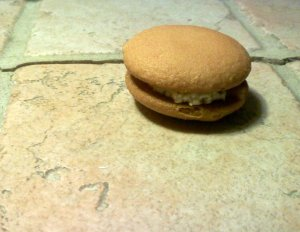 cookie sandwich with cream cheese filling