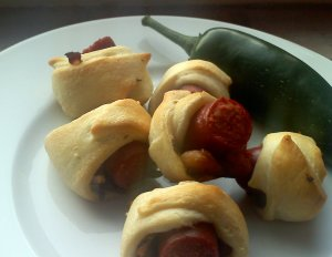 pigs in a blanket with bacon and jalapeno