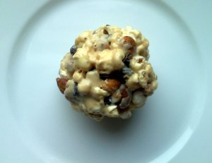 cranberry nut popcorn ball