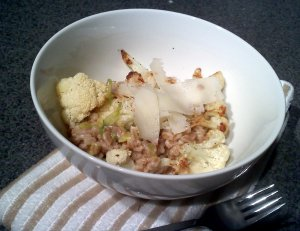 cauliflower and farro
