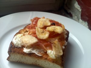 pineapple cream cheese on bread