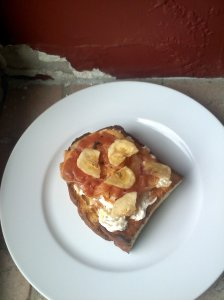 cream cheese and pineapple bruschetta