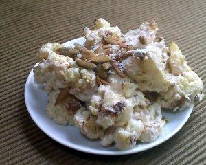 roasted cauliflower with pepitas