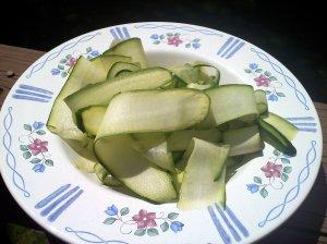 zucchini pappardelle