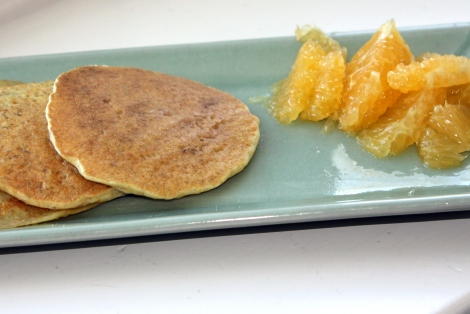 whole grain pancakes breakfast