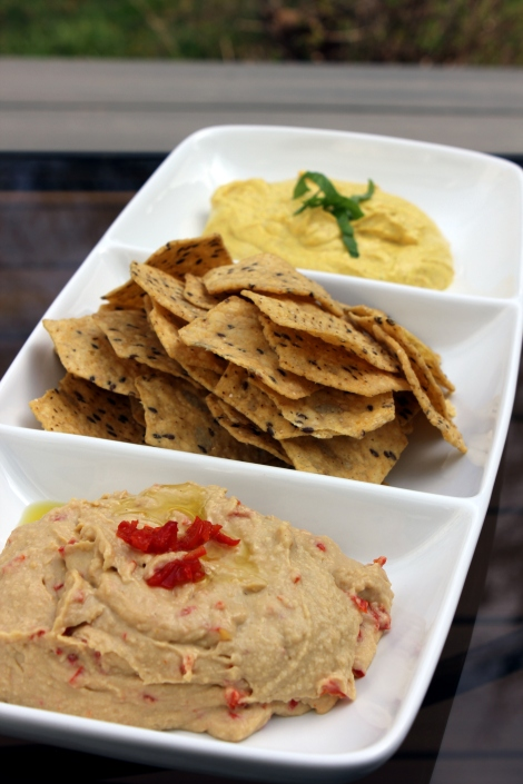 peppadew hummus and curry dip