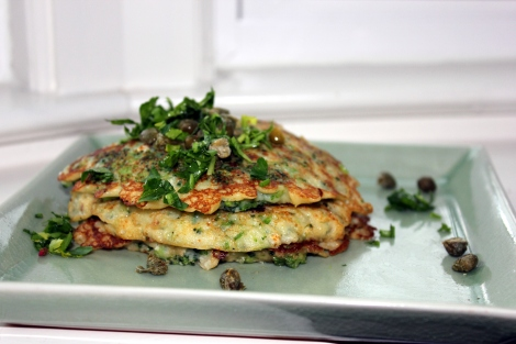 whole wheat broccoli pancakes