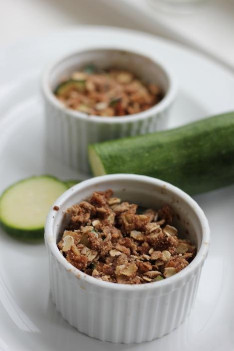 sweet zucchini raisin crumble