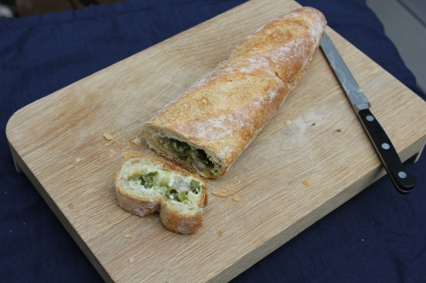chicken apple sausage stuffed bread