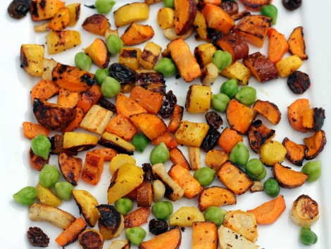 carrots green garbanzo beans