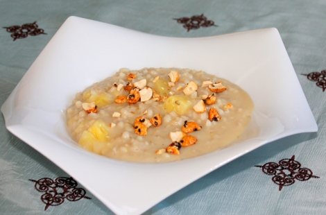 brown rice pudding with coconut milk