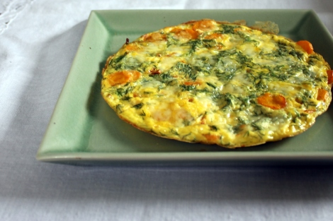 frittata with carrot and dill